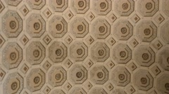 4k old roman monument ceiling detail Stock Footage