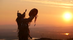 Shaman ritual dance Stock Footage
