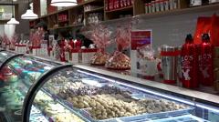 Carlo's Bakery Shop in Lackawanna Center. Hoboken Stock Footage