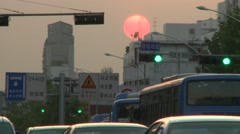 Seoul, sunset timelapse, traffic, city lights Stock Footage
