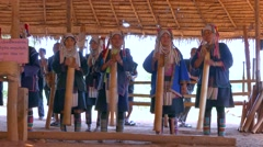 AHKA Hill Tribe Folklore, Northern Thailand Stock Footage