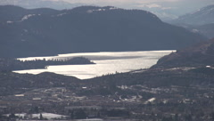 Time-lapse, long shot lake Okanagan dizzying speed of shadows Stock Footage