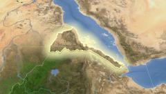 Stock Video Footage of Eritrea. Neighbourhood. Satellite