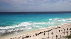 Caribbean sea beach with turquoise water Stock Footage