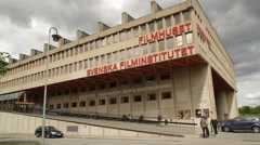 Swedish Film Institute building Filmhuset in Stockholm Stock Footage