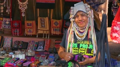 AHKA Hill Tribe Woman, Northern Thailand Stock Footage