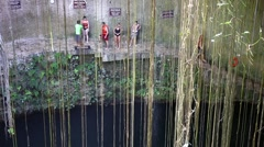 MEXICO, CANCUN - 17 MARCH 2015: Ik-Kil Cenote - stock footage