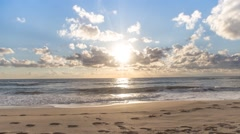 Patara Beach and Clouds Stock Footage