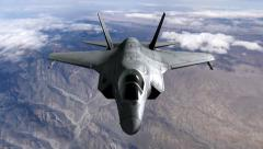 F35 Military jet animation  Stock Footage