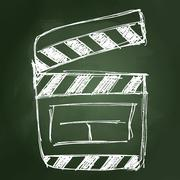 Rough sketch of a clap board - stock illustration