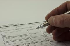 Close up of an application form Stock Photos