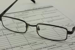 Close up of an application form - stock photo