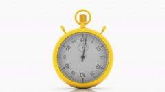 Stopwatch in gold color on white Stock Footage