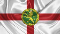 Flag of Alderney - stock photo