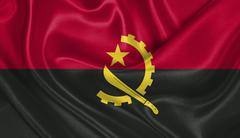 Flag of Angola - stock photo