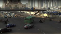 Traffic in Huang pu district. Shanghai, China. Stock Footage