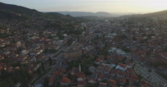 Sarajevo aerial shot, Bosnia and Herzegovina Stock Footage