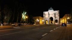 Munich at Night Stock Footage