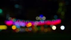 Unfocused City Lights in Bokeh Effect Stock Footage