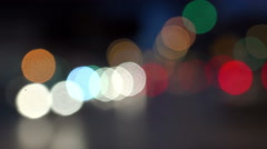 Bokeh from car light on the traffic road, UHD 4k stock footage Stock Footage