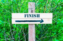 Directional wooden sign with arrow pointing to the right Stock Photos