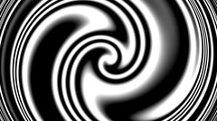 Black and white abstract of alpha channel ready for colour irregular vortex  Stock Footage