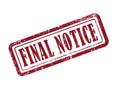Stamp final notice in red Stock Illustration