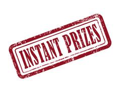 Stock Illustration of stamp instant prizes in red