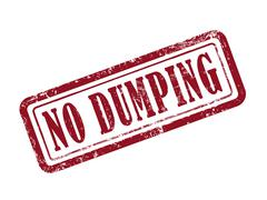 Stamp no dumping in red Stock Illustration