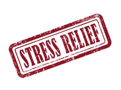 stamp stress relief in red - stock illustration