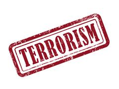 Stamp terrorism in red Stock Illustration