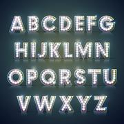 Stock Illustration of modern lighting alphabet set