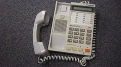 Old panasonic phone in the office Stock Footage