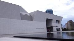 Aga khan museum in Toronto Canada Stock Footage