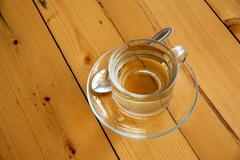 A cup of tea on wooden background Stock Photos