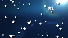 Sun and stars animated abstract background Stock Footage