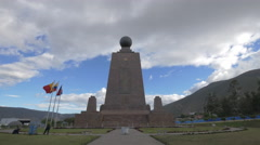 The North side of the Middle of the World Monument in Ecuador Stock Footage