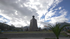 The Middle of the World monument park in Ecuador Stock Footage