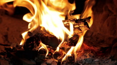 Wood burns in an oven Stock Footage