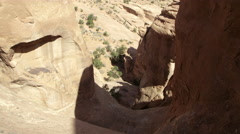 Upward panning view of sandstone layers. - stock footage