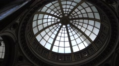 Tilt shot of the foyer in the Nat ional Gallery in Central LondonNat Gall 29 - stock footage
