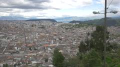 Quito cityscape from El Panecillo, Ecuador Stock Footage