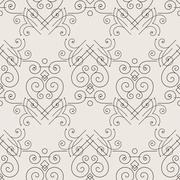 Stock Illustration of Vector seamless pattern of elegant flourishes