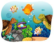 Aquatic - stock illustration