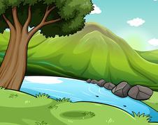 Scenery - stock illustration