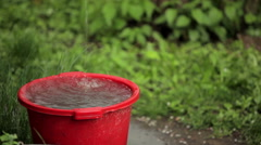 Rainwater fills the pelvis Stock Footage