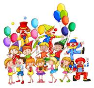 Children and party Stock Illustration