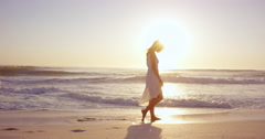 Free happy woman spinning arms outstretched enjoying natural  lifestyle dancing - stock footage
