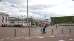 Plaza San Blas in Quito, Ecuador Stock Footage