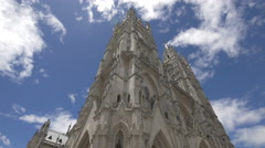 Basilica of the National Vow with towers in Quito Stock Footage